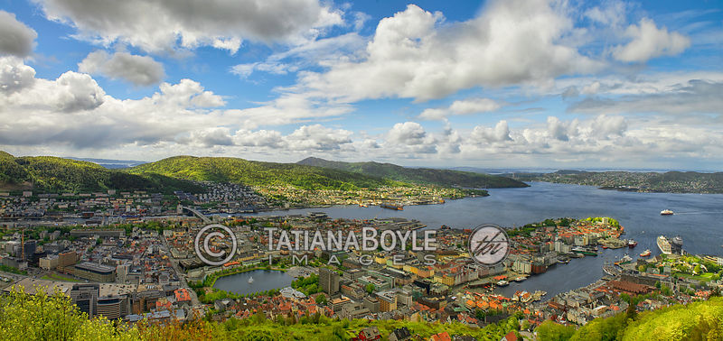 View on Bergen, Norway