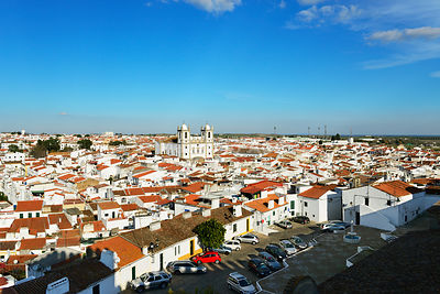 The white washed village of Campo Maior. Alentejo, Portugal