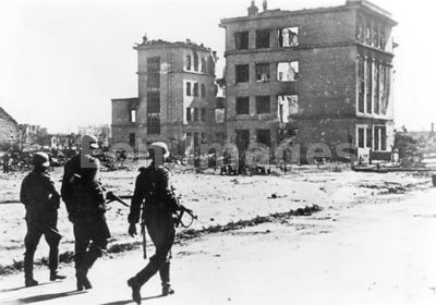 Ruins of Stalingrad during WWII
