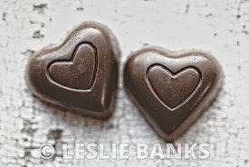Vintage Chocolate Hearts