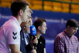 Bozidar Djurkovic during the Final Tournament - Final Four - SEHA - Gazprom league, Handball discussion in Brest, Belarus, 06.04.2017, Mandatory Credit ©SEHA/ Stanko Gruden