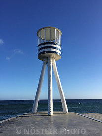 One of Arne Jacobsen's characteristic lifeguard towers