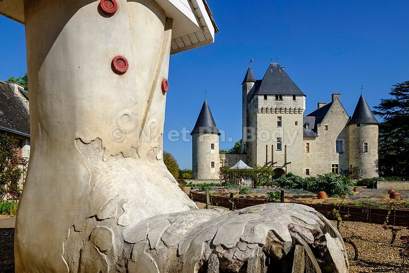 FRANCE, INDRE ET LOIRE, CHATEAU DU RIVAU//France, Loire Valley, Castle of Rivau