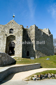 oystermouth castle mumbles swansea bay glamorgan south wales uk