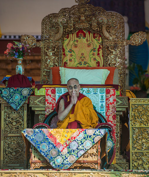 This photograph was shot during Dalai Lama's visit to Ladakh.
