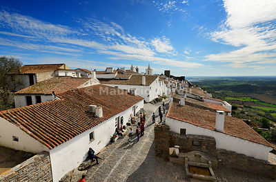 The medieval walled village of Monsaraz. Alentejo, Portugal