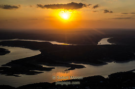 Sunset over Lake Travis, Austin, Texas (aerial view) (Winning Image, Nature Photographer Magazine Contest, December 2012)