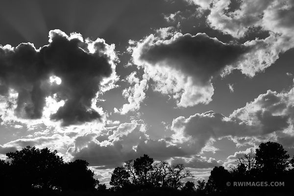 WESTERN SKY GRAND CANYON ARIZONA BLACK AND WHITE