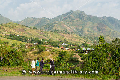 Village near Tonga outside Virunga National Park, DR Congo