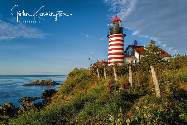West Quoddy Head Lighthouse, Lubec, Maine 24x36 Framed Canvas  $249