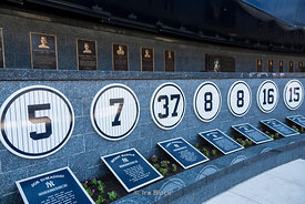 Monument Park at the Yankee Stadium in the South Bronx in New York City.