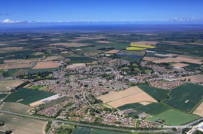 aerial photograph of Long Sutton, Lincolnshire England UK