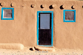 Adobe house in Taos, NM