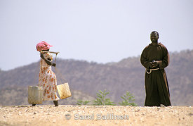 Bimbina water woman and priest