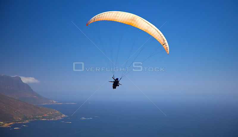 Paragliding over Cape Town, South Africa, December 2009.