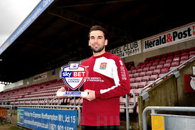 Ricky Holmes won Player of the Month from the Football League.