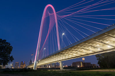 The Margaret Hunt Hill Bridge in Pink #2