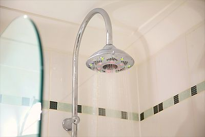 Overhead Shower with LED Lighting