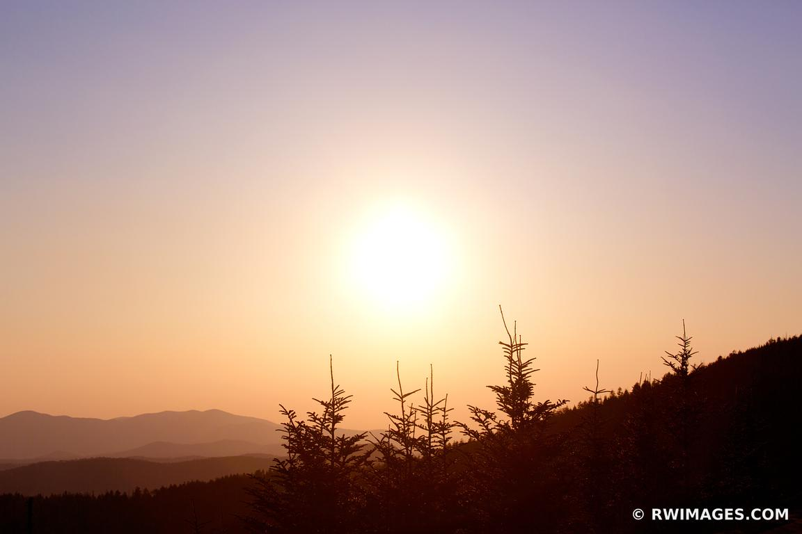 VIEW FROM CLINGMANS DOME SMOKY MOUNTAINS SUNSET COLOR