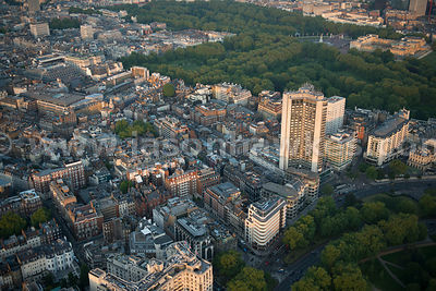Aerial view of St. James', City of Westminster, London