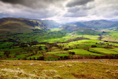 The view from Blencathra in Cumbria