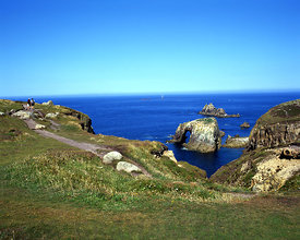 Cliff scenery, Lands End, Cornwall.