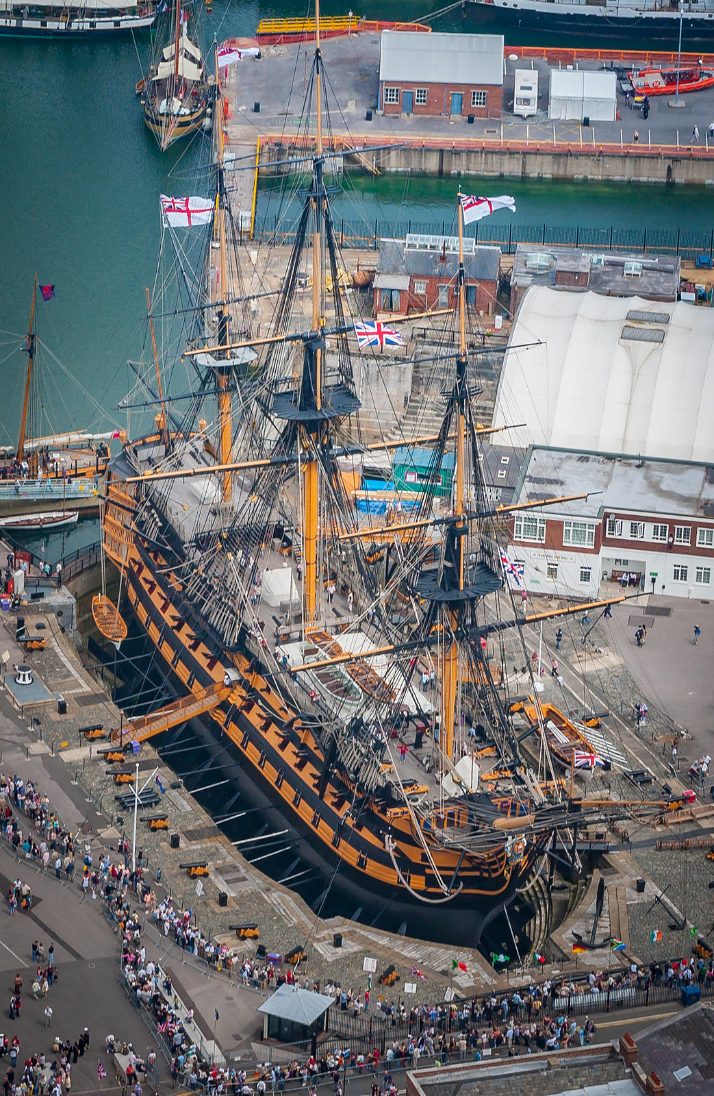 Aerial View of HMS Victory
