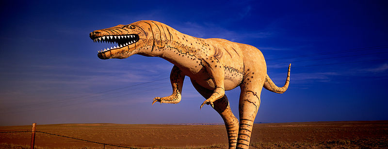 T Rex in the desert