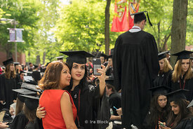 Graduation ceremony of Harvard University in Cambridge, Massachusetts.