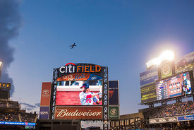 Citi Field, a stadium located in Flushing Meadows–Corona Park in the New York City borough of Queens.  It's the home baseball park of Major League Baseball's New York Mets.