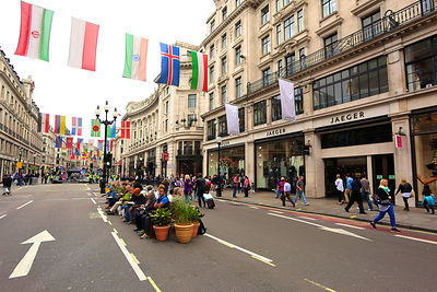 Regent Street London Pedestrianised for the Day