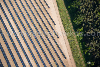 Aerial view of Solar Farm, Narford, Norfolk