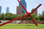 Modern Sculpture outside Dallas Museum of Art