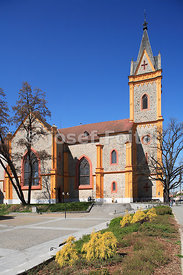 Church of St. John of Nepomuk, Hluboka nad Vltavou, South Bohemia, Czech Republic, Europe