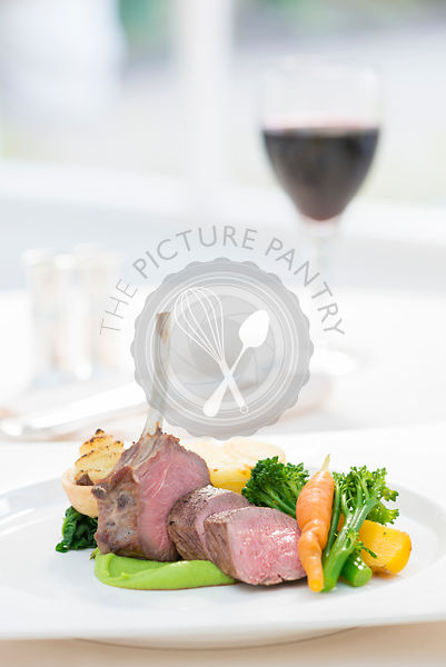 Duo of Lamb served with seasonal vegetables