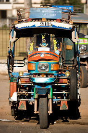 Tuk Tuk waiting for passengers, Laos Vientiane