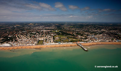 aerial photograph of Hastings East Sussex England UK