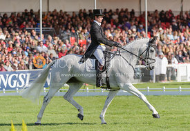 Francis Whittington and EASY TARGET - Dressage - Mitsubishi Motors Badminton Horse Trials 2013.