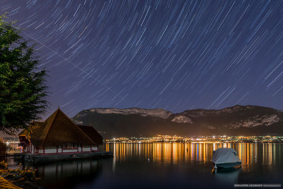 ISS over the Veyrier – Sevrier, Annecy Lake