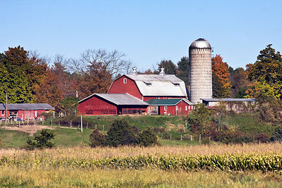 Classic farm in the Adirondacks, New York