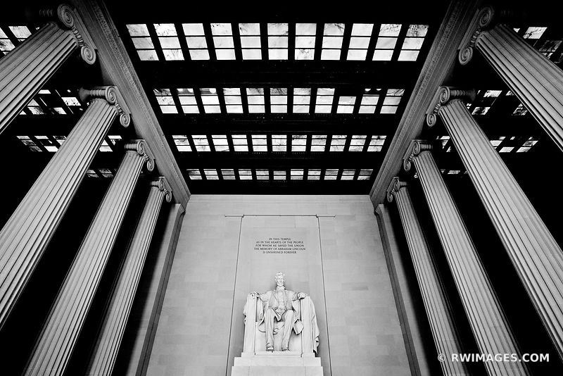 LINCOLN MEMORIAL WASHINGTON DC BLACK AND WHITE