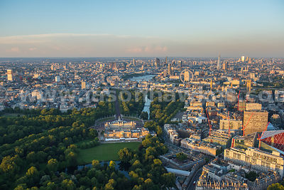 Aerial view,  Buckingham Palace