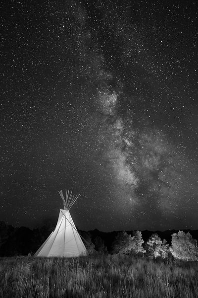 Tipi and Night Sky