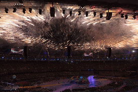 Fireworks for the atheletes