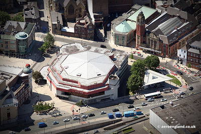 aerial photograph of the Crucible Theatre  Sheffield