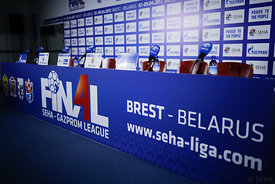 Preparation during the Final Tournament - Final Four - SEHA - Gazprom league, Press conference in Brest, Belarus, 06.04.2017, Mandatory Credit ©SEHA/ Uros Hočevar