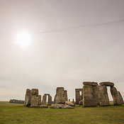Late morning view of Stonehenge prehistoric monument, Wiltshire, England, United Kingdom