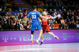 Iman Jamali during the Final Tournament - Final Four - SEHA - Gazprom league, Telekom Veszprém - Meshkov Brest in Brest, Belarus, 07.04.2017, Mandatory Credit ©SEHA/ Stanko Gruden