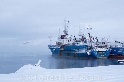 Russian Trawlers moored in Kirkenes, Northern Norway