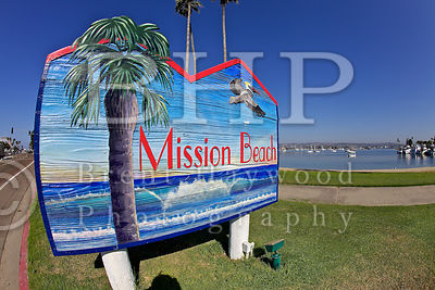 Mission Beach Sign Photo